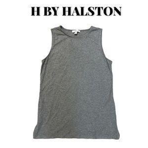 Unworn H by Halston Gray Ribbed Viscose Tank, S